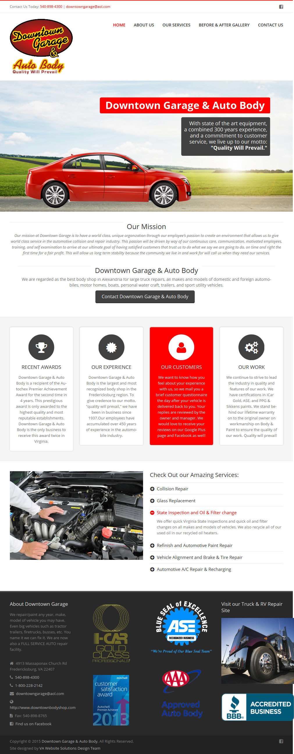 Downtown Garage Website Beauty Amp Logic Designs